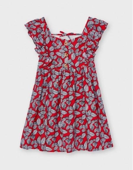 Poppy Leaf Print Dress