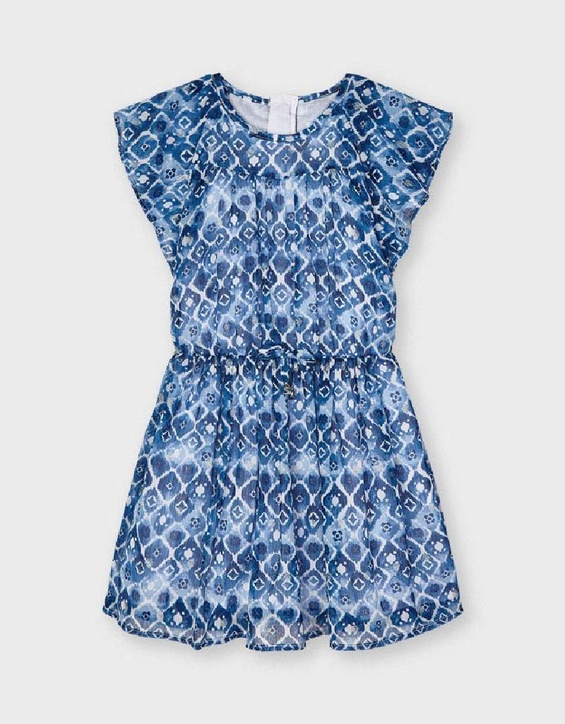 Ink Chiffon Print Dress