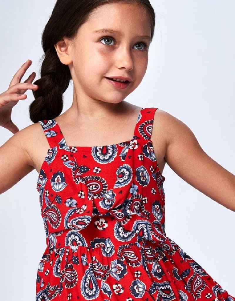 Poppy Strappy Print Dress