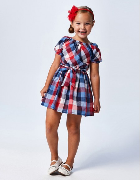 Poppy Check Dress