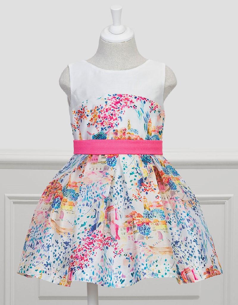 Fuchsia Silk Patterned Dress