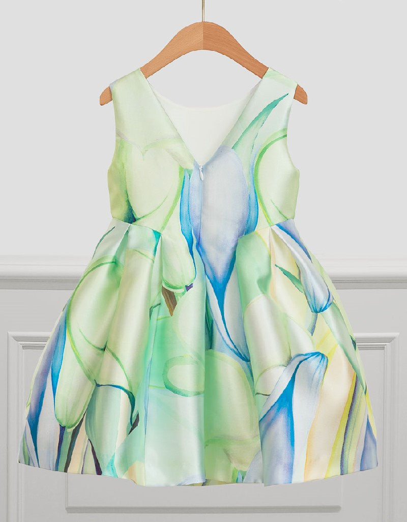 Apple Stamp Mikado Dress
