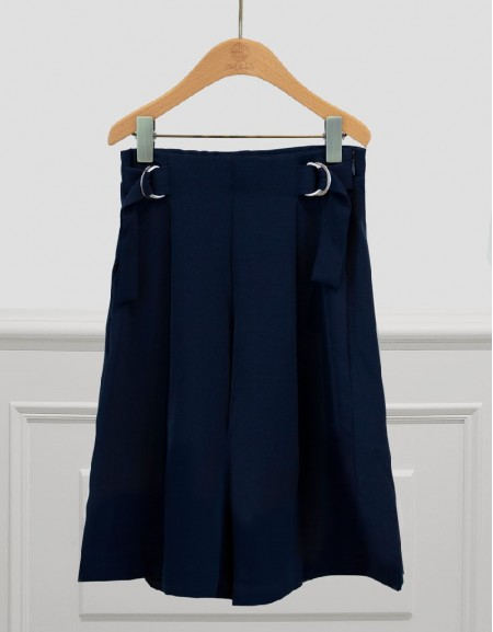 Navy Culotte Pants