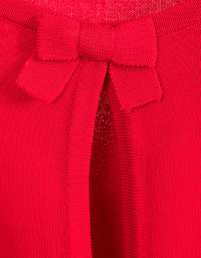 Red Viscose Cardigan