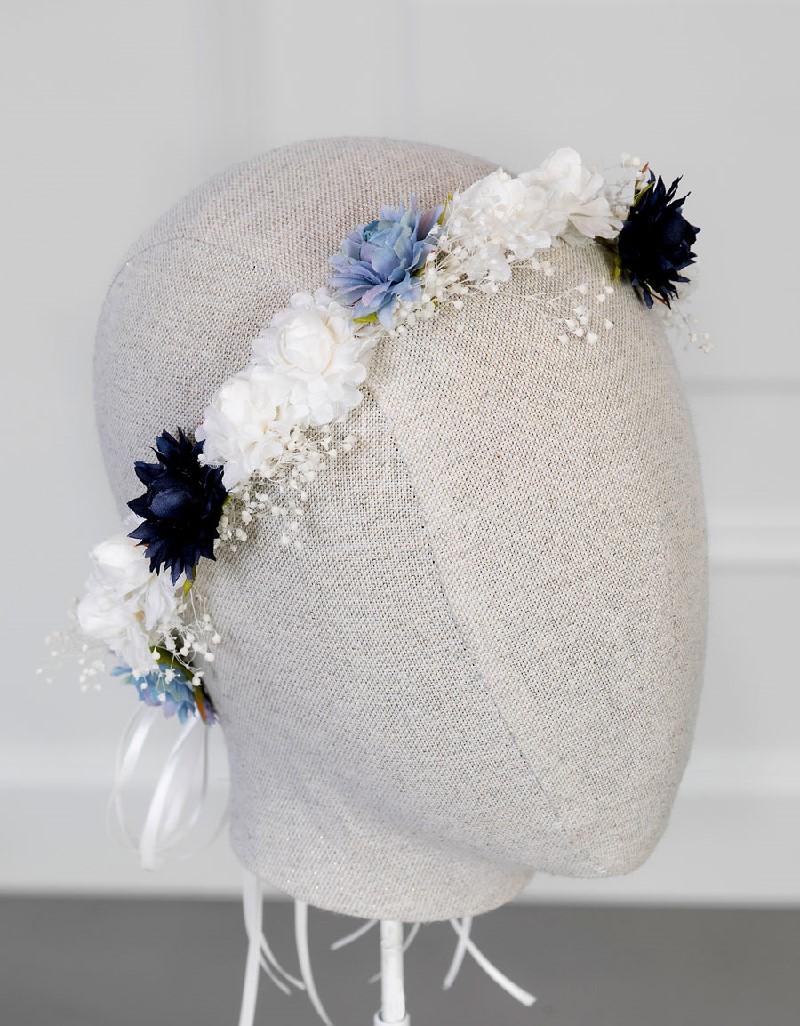 Indigo Flower Crown