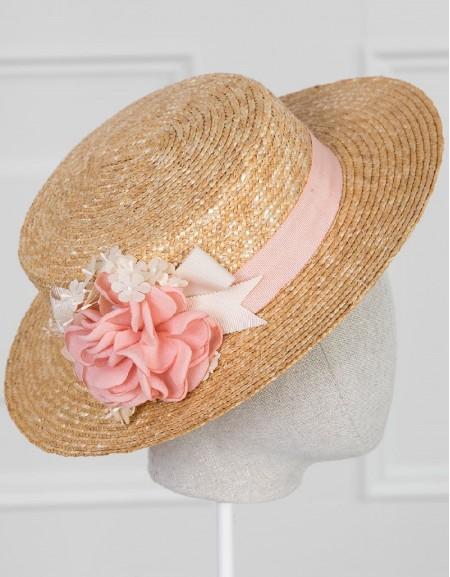 Makeup Floral Boater Hat