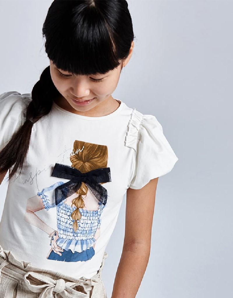 Blue S/S T-Shirt Girls On Back