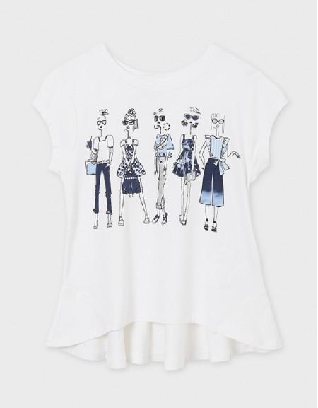 White-Dark S/S Girl T-Shirt