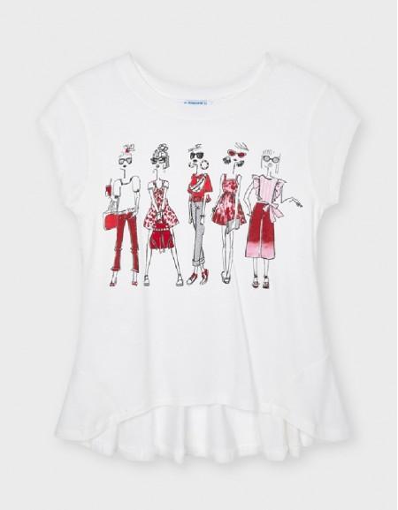 White Popp Girls T-Shirt