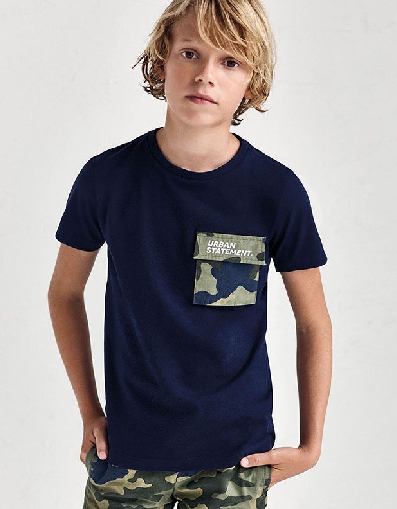 Ocean Mixed Tshirt With Pocket