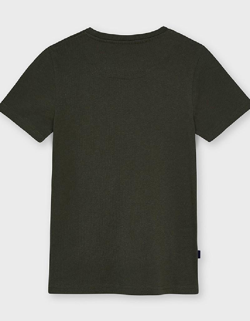 Green Mixed Tshirt With Pocket