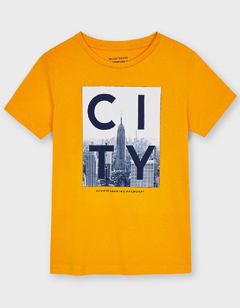 Peach Ecofriends City T-Shirt