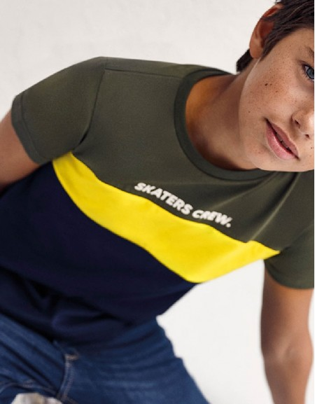 Green Block Sustainable Cotton T-Shirt