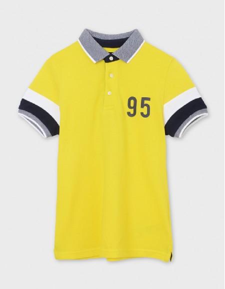 Lemon Short Sleeve Polo Back Graphic
