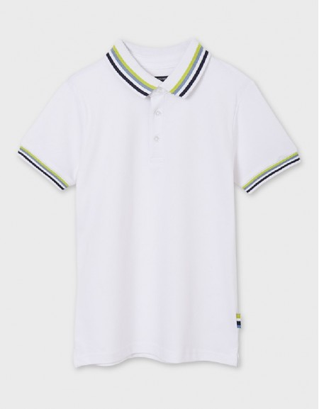 White S/S Semi Basic Polo