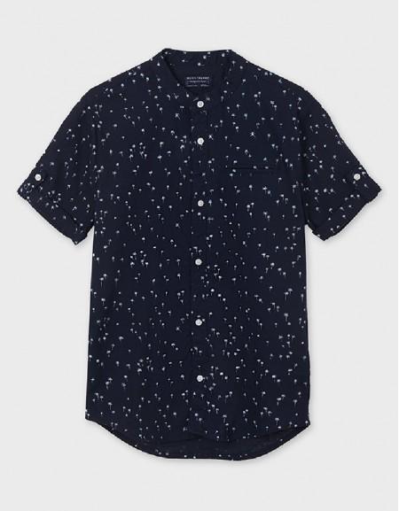 Ocean Grandad Collar Short Sleeved Shirt