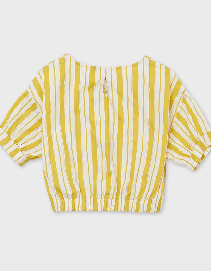 Mustard Poplin Loose Shirt