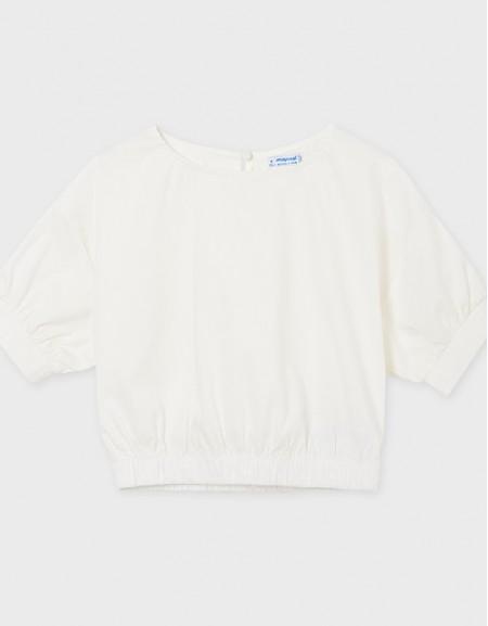 Natural Poplin Loose Shirt