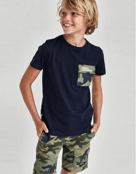 Camouflage Lateral Pocked Short