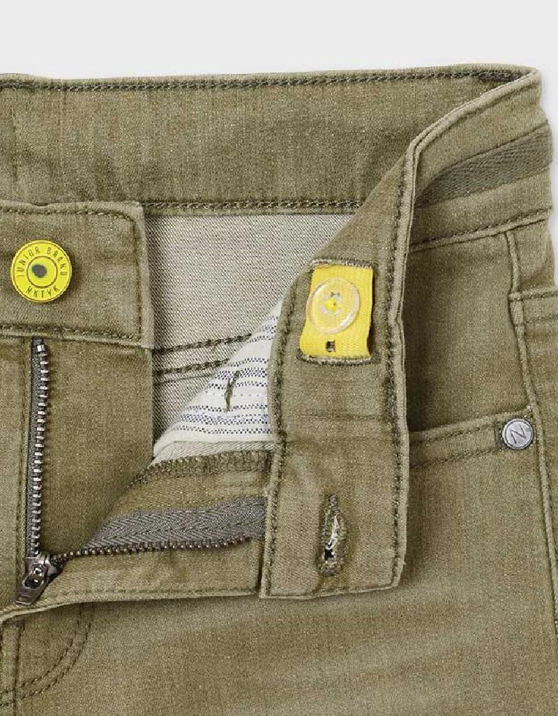Hunt Green Denim Shorts With Drawstring