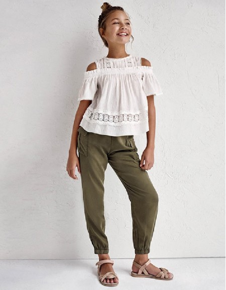 Hunt Green Ecofriends Flowing Trousers With Pockets