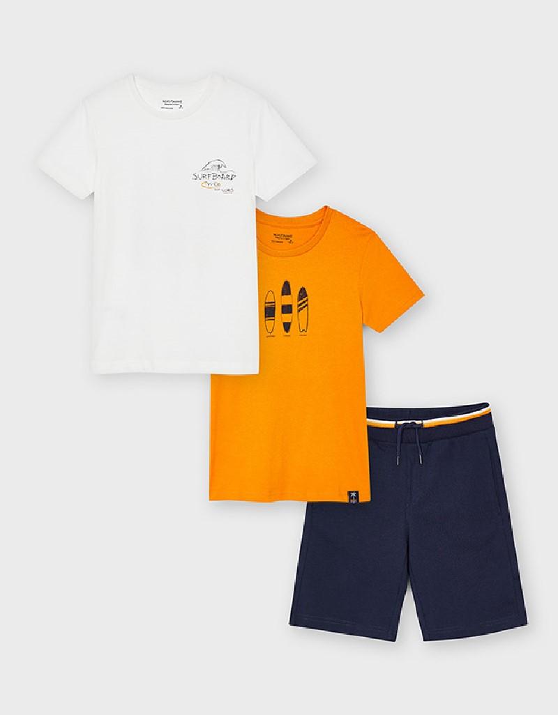 Dark Peach Knit Set With 2 T-Shirts