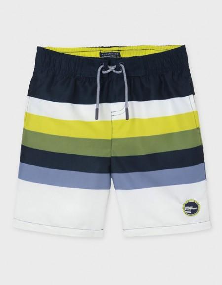 Pistachio Striped Swim Shorts