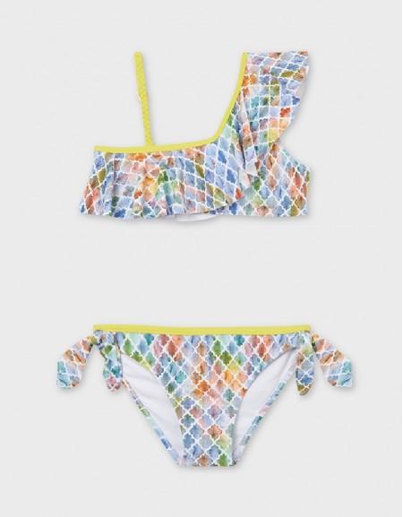 Printed Asymmetrical Bikini