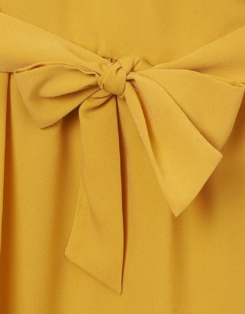 Mustard Crepe Jumpsuit