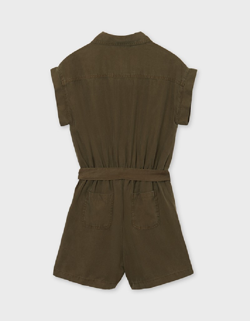 Hunt Green Ecofriends Playsuit With Belt