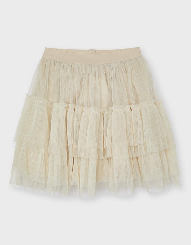 Champagne Tulle Skirt Girl