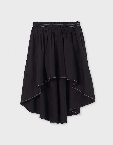 Black Tailed Skirt Girl