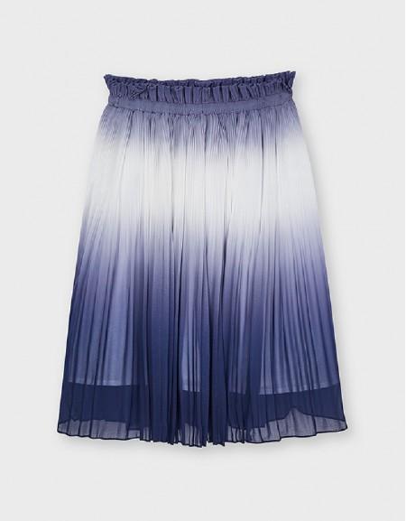Navy Faded Pleat Skirt