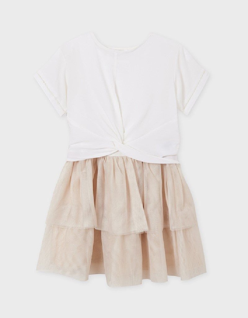 Champagne Girl Embroidered Linen Dress