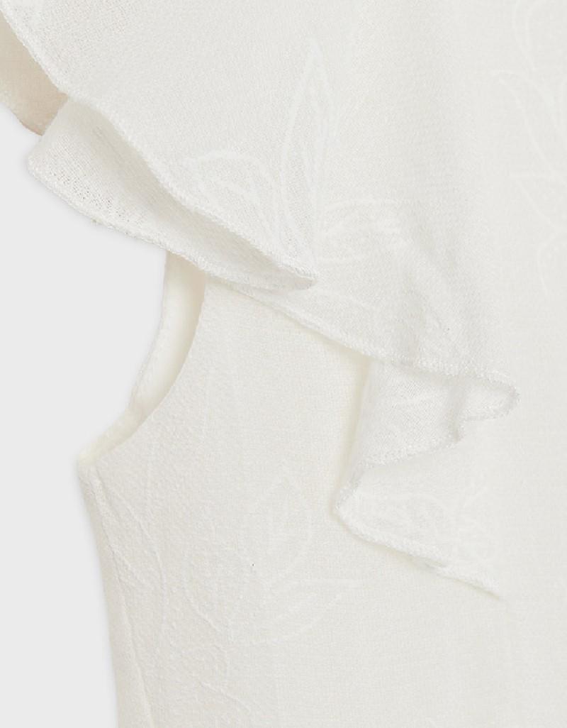 Natural Bamboo Flounce Dress