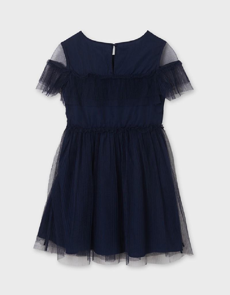 Navy Tulle Dress Girl