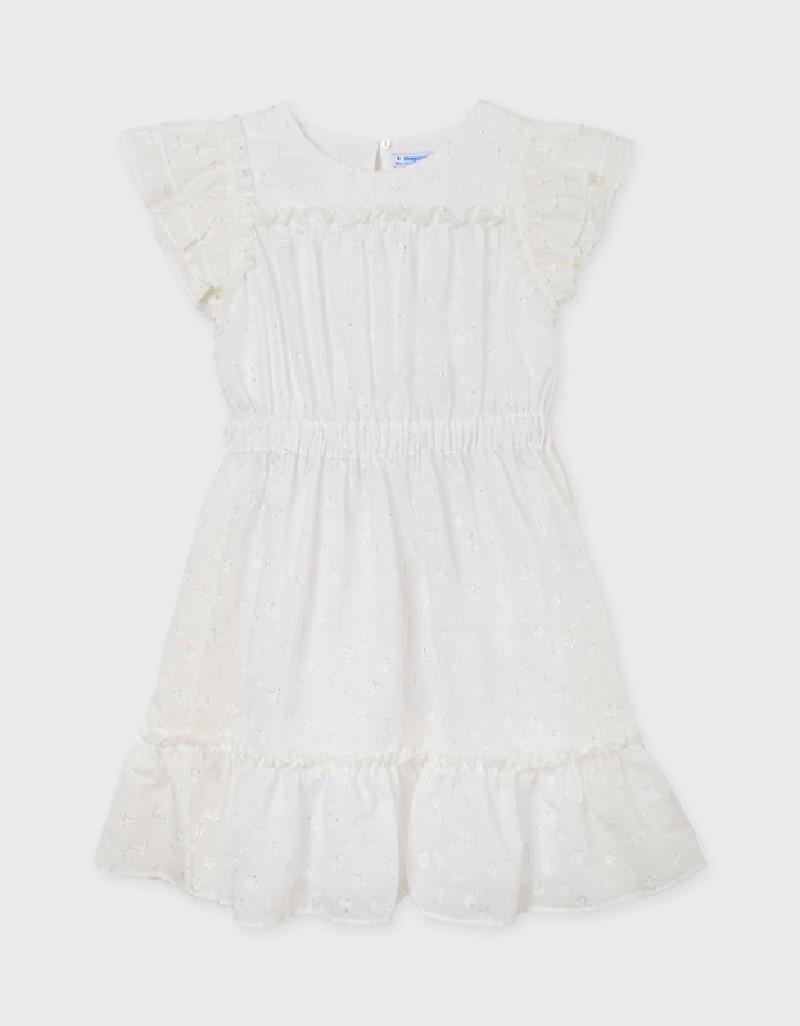 Natural Gauze Dress Lurex