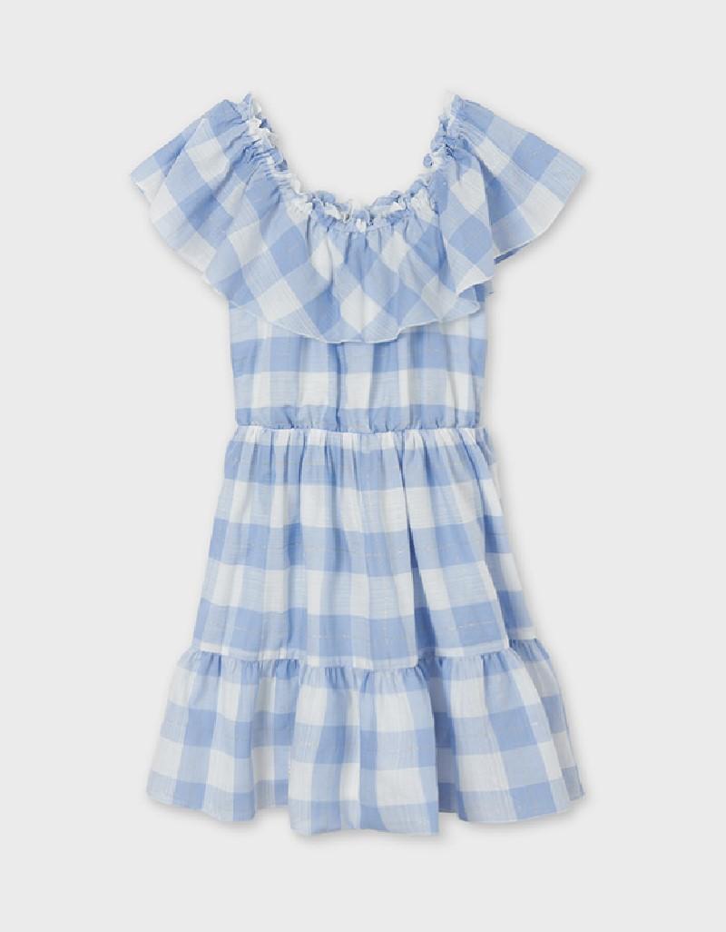 Lightblue Checked Dress