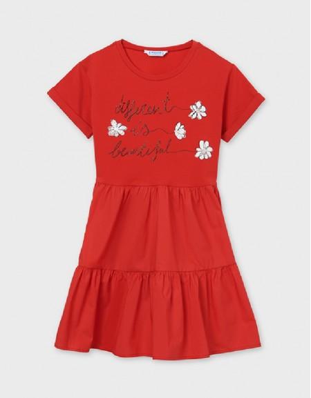 Poppy Mixed Fabric Dress