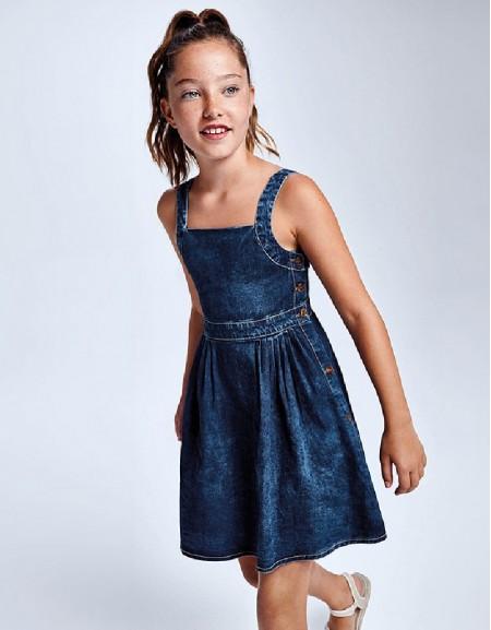 Medium Ruched Denim Dress
