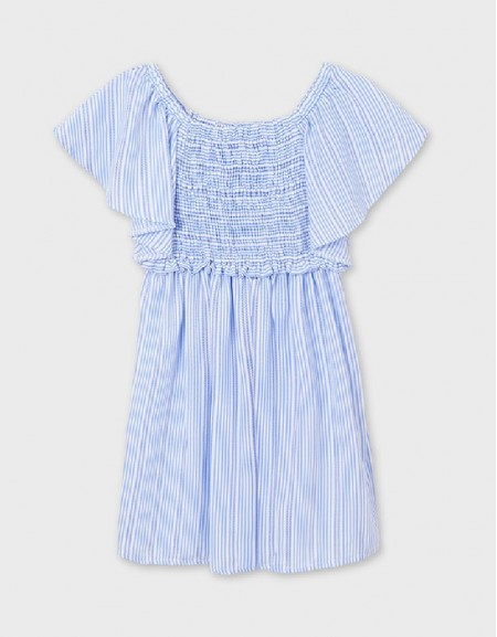 Ice Striped Ruched Dress