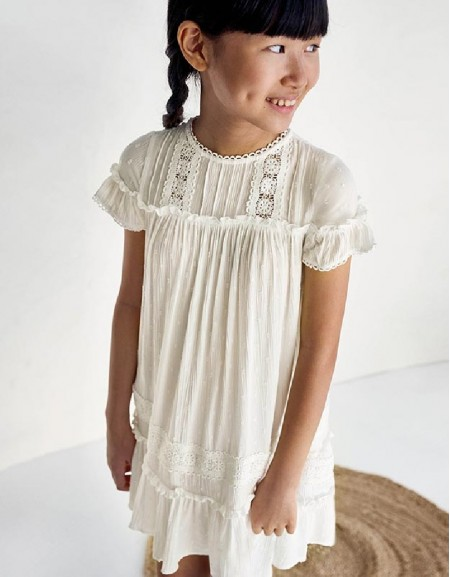 Natural Plumeti Dress