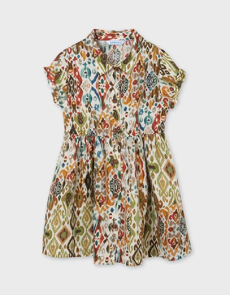 Hunt Green Print Shirt Dress