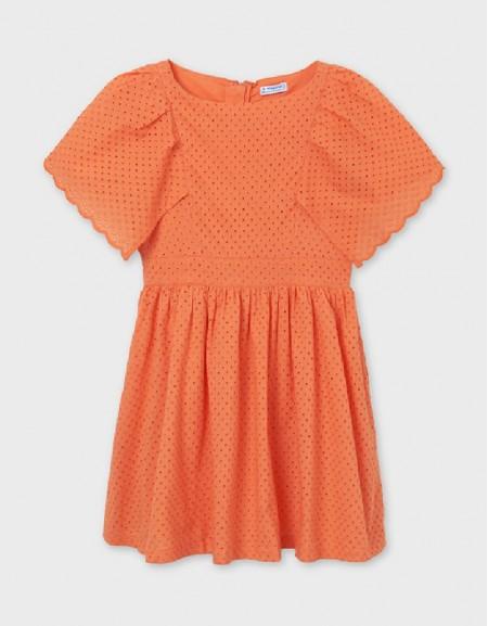 Nectarine Perforated Dress