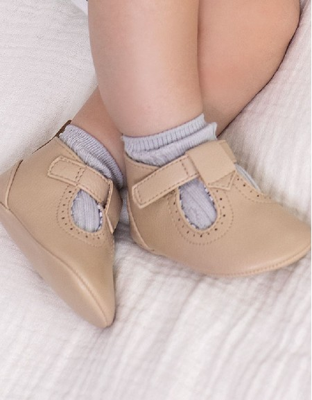 Toffee Faux Leather Shoes