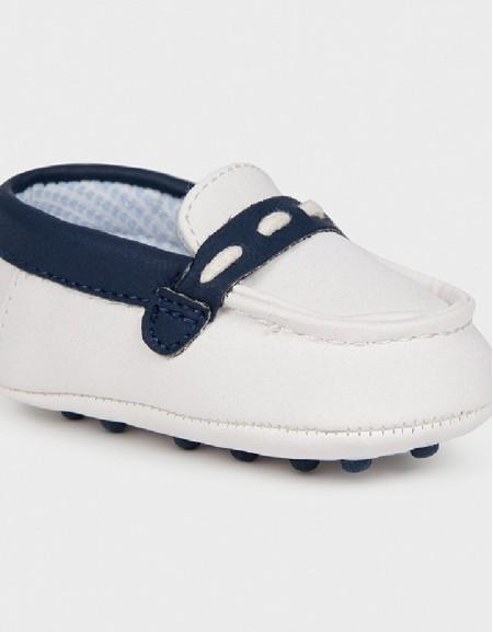 White Mocasini Bebe Shoe