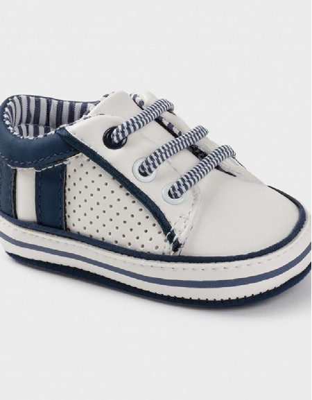 White-Blue Sporty Shoes