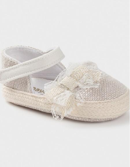 Linen Espadrilles For New Born Girl