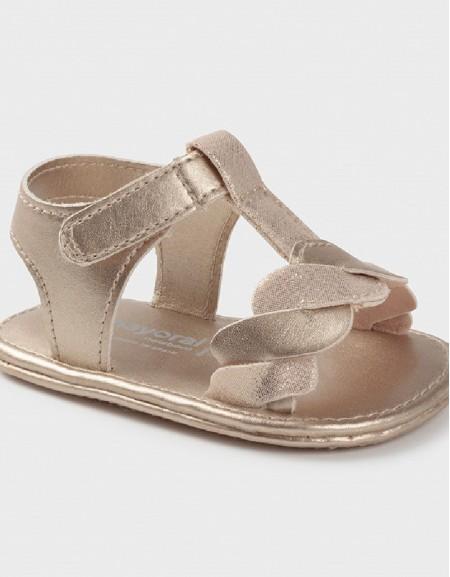 Beige Lure Newborn Girl Combo Sandals
