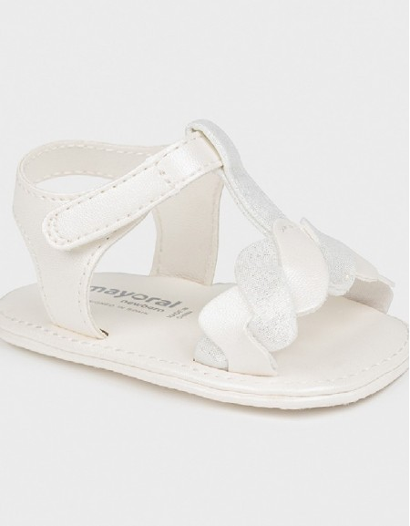 White Newborn Girl Combo Sandals